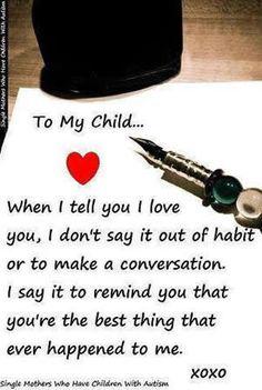 I love my children