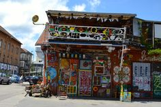 Metelkova mesto city is al place to be for all people searching for alternative scene.