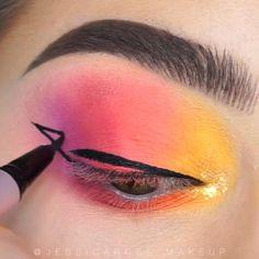 Makeup Eye Looks, Eye Makeup Steps, Beautiful Eye Makeup, Eye Makeup Art, Colorful Eye Makeup, Crazy Makeup, Eyeshadow Makeup, Makeup Tips, Yellow Eyeshadow
