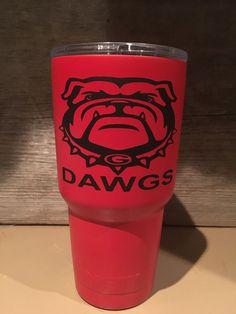 Georgia Bulldogs custom Yeti Rambler by KickinItUpaNotch on Etsy