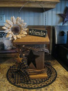 Birdhouse Primitive Kunst, Primitive Crafts, Country Primitive, Primitive Antiques, Arte Country, Country Crafts, Country Decor, Country Style, Prim Decor