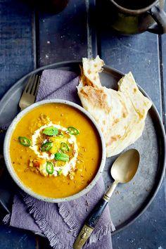 spiced vegetable and lentil soup