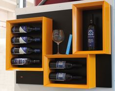 #Portabottiglie #vino in legno dal #design moderno Esigo 5 - Modern #wine #bottles rack Esigo 5