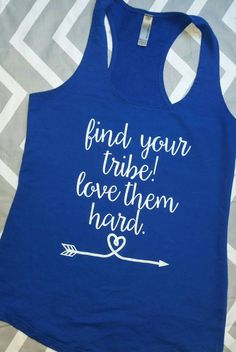 0ea3a5020bba Find your Tribe Love them Hard Terry Racerback Tank Top   Cute   Fitness    Workout