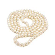 Colier lung ZEEme perle de cultură albe