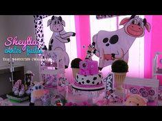 La vaca Lola, decoración temática de fiesta Infantil, niña, la granja bebe - YouTube Minnie Mouse, Baby Theme, Disney Characters, Birthday, Party, Youtube, Little Girl Birthday, Cow Decor, Events