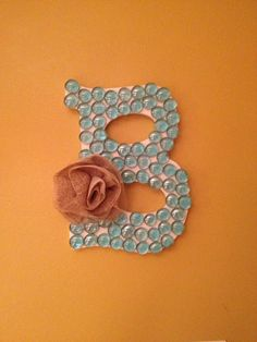 Wood & Marble Initial Monogram Wall Decor via Etsy. Come check out my new Etsy Shop! BonnieBelleShop