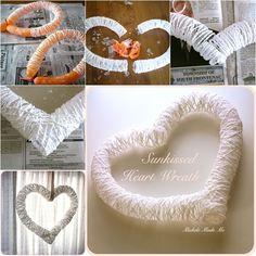 Sunkissed Heart Wreath Tutorial | UsefulDIY.com Follow us on Facebook ==> https://www.facebook.com/UsefulDiy