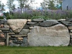 My buddy Skye has the touch to build great rock fencing / dry stone walls. If you have ever been by the N My buddy Skye has the touch to build great rock fencing / dry stone walls. If you have ever been by the Northshire Bookstore in Manchester,. Backyard Garden Landscape, Modern Backyard, Backyard Landscaping, Large Backyard, Garden Pond, Garden Walls, Garden Planters, Garden Tips, Garden Art