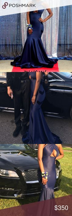 Prom dress Silk material with velvet on the sides and bottom with back out Dresses Prom