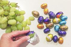 6 easy April Fool's Day prank recipes ....like this one replacing foil-wrapped chocolate eggs with grapes. Ha!