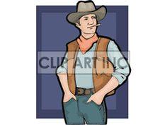 Royalty-Free A Cowboy Wearing a Red Bandana Tipping his Cowboy Hat ...