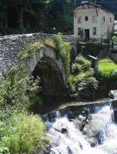 Stone Bridge Waterfall, Corio, Italy photo by F Ceragioli