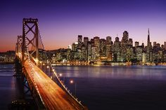 6 of the World's Best Cities to Be a Scientific Genius San Francisco skyline and Bay Bridge at sunset, California San Francisco California, San Francisco Bay, California Usa, Northern California, San Francisco With Kids, Moving To San Francisco, Ponte Golden Gate, Golden Gate Bridge, St Francis