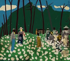 Romare Bearden- Memories of High Cotton by Art Images Directory, via Flickr