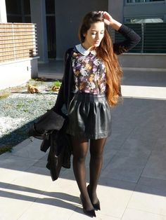 #Girl #Style #Flowers #Spring #Fresh #Glamour