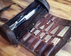 Messerkasten Koch, Koch Messer Roll, Chef Tasche, Chefwear, Geschenk für ihn, Küchenzubehör, Geschenke für Köche, Geschenke für Koch, Geschenke für Feinschmecker