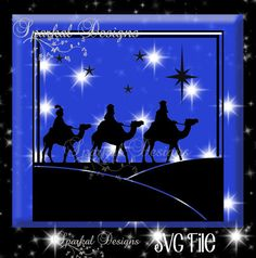 Christmas Three Wise Men SVG CHRISTMAS Cut by SparkalSVGDesigns