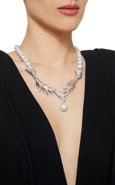 Shop TASAKI Tasaki High Jewelry White Gold Pearl Necklace