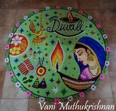 Rangoli Ideas, Rangoli Designs Diwali, Kolam Rangoli, Flower Rangoli, Welcome Rangoli, Indian Rangoli, Diwali Craft, Beautiful Rangoli Designs, Indian Art Paintings