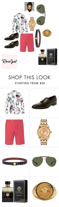 """""""Untitled #138"""" by ericap61720 ❤ liked on Polyvore featuring Mezlan, Dunhill, Versace and Gucci"""