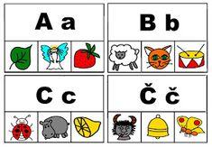 Pro Šíšu: Začáteční písmena - kolíčky Kids Education, Playing Cards, Comics, Montessori, Art, Early Education, Art Background, Playing Card Games, Kunst