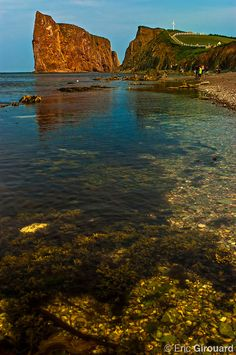 Late afternoon at Percé Rock, off the shore of the village of in Quebec's Gaspésie peninsula. O Canada, Canada Travel, Oh The Places You'll Go, Places To Visit, Voyager Loin, Quebec City, 50 States, Before Us, Newfoundland