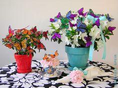 Butterfly Wedding Theme Style Decoration Ideas ~ Butterfly Wedding Centrepieces ~ More Ideas and products at Wedding Décor Direct ~ http://www.weddingdecordirect.co.uk/