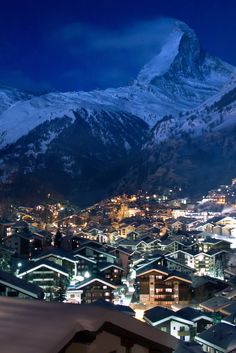 Sin City Zermatt Switzerland By Night by (Maria Globetrotter)