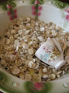 delicious white buttons. by oldflowers4me, via Flickr