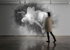 Layered Wire Mesh Portrait by Seung Mo Park. Wish I could be in a room with this work...