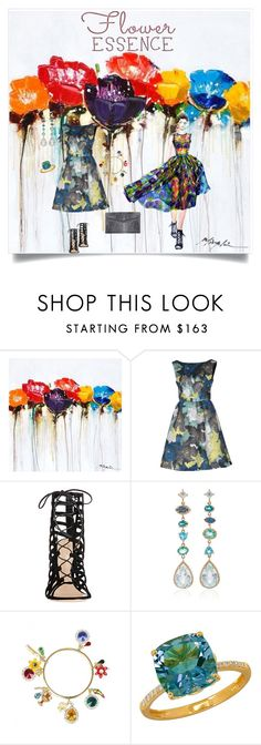 """""""Flower Essence"""" by shoecraycray ❤ liked on Polyvore featuring Yosemite Home Décor, Erdem, Gianvito Rossi, Eden Presley, Dolce&Gabbana, Lord & Taylor and J. Mendel"""