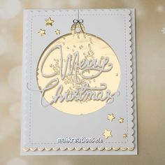 Christmas Series 2015 - Card # 4 How to create this very elegant white and gold christmas shaker card. More infos and a list of supplies used can be found on my blog! Happy holidays! www.maikreations.de