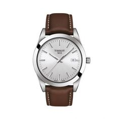 Find Tissot T-Classic Gentleman Leather Strap Watch, online. Shop the latest collection of Tissot T-Classic Gentleman Leather Strap Watch, from the popular stores - all in one Gentleman Watch, Swatch, Brown Leather Strap Watch, Silver Pocket Watch, Bracelet Cuir, Stainless Steel Case, Quartz Watch, Unusual Watches, Men Accessories
