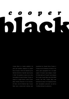 cooper black poster - Google 검색
