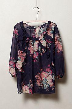 Cotati Silk Blouse  shirt- anthropologie.com