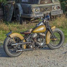 Old Harley #harleydavidsonchoppersvintage #harleydavidsonbobbersvintage