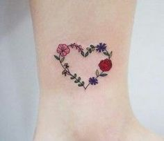 45 Ideas for flowers watercolor tattoo ankle Tattoos And Body Art ankle tattoo designs Mom Tattoos, Line Tattoos, Body Art Tattoos, Small Tattoos, Tattoos For Women, Tatoos, Family Tattoos, Arrow Tattoos, Music Tattoos