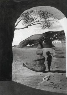 Illusion painting by Salvador Dali