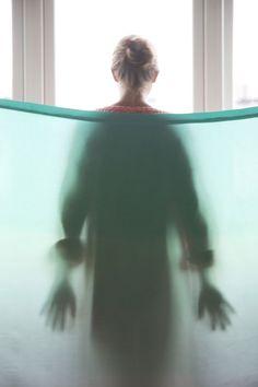Tint silk room dividers by Kristine Five Melvær Vinyl Blinds, Smart Textiles, Space Dividers, Minimalist Lifestyle, Sliding Glass Door, Silhouette, Mood, Silk, Dezeen