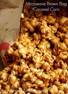 15 Minute Microwave Brown Bag Caramel Corn - The Best!!