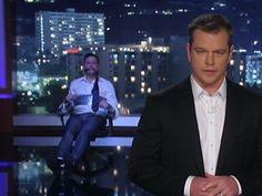 Matt Damon tormenting Jimmy Kimmel - http://www.PaulFDavis.com/success-speaker (info@PaulFDavis.com)