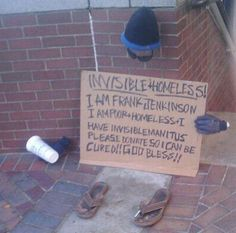 invisible + homeless