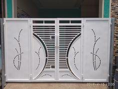 Home Gate Design, Grill Gate Design, House Main Gates Design, Front Gate Design, Tv Furniture, Front Gates, Gate House, Fun Diy Crafts, Fencing