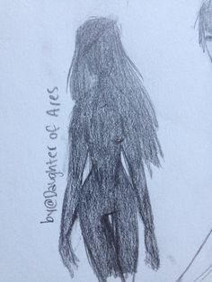 I was practice anatomy and this happened XD shadow girl??? Lost spirit of asphodel??? Idk