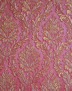 Pink and Gold wall texture and design