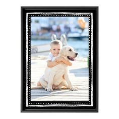 Dots And Stripes Canvas Print, Black, Single piece, 10 x 14 inches, Black