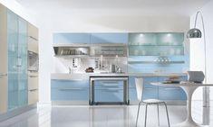 Картинки по запросу синяя кухня какие обои