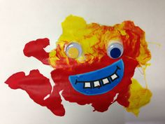 Creative Monster Art: paint, straws, googly eyes and a silly mouth = fun!