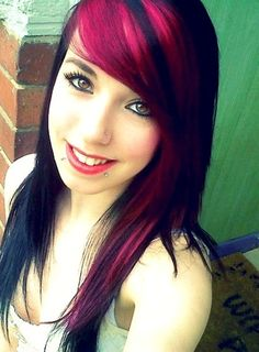 pink & black hair #pink #hair | Pinterest Most Wanted